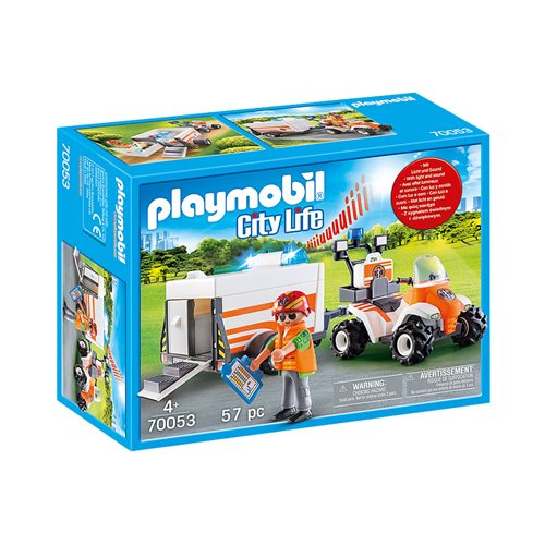 Playmobil 70053 Rescue 911 Rescue Quad with Trailer