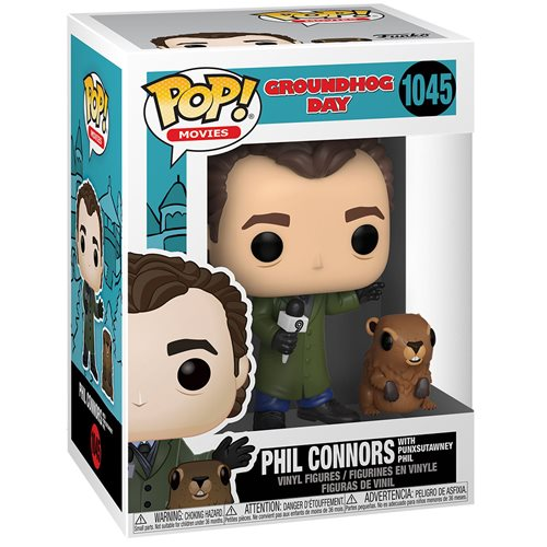Groundhog Day Phil with Punxsutawney Phil Pop! Vinyl Figure