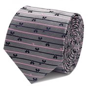 Mickey Mouse Striped Gray Tie