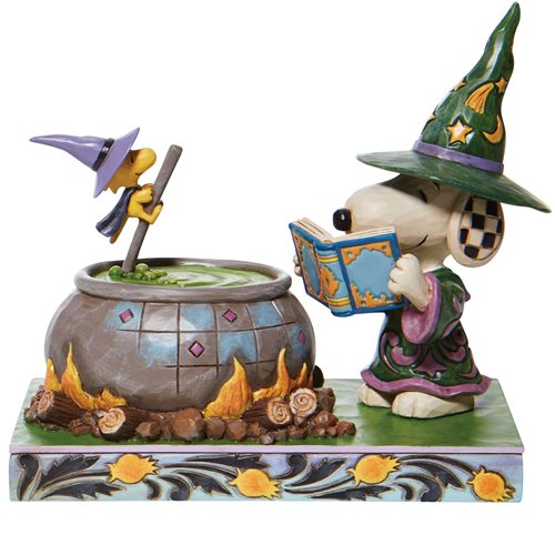 Peanuts Witch Snoopy and Woodstock Bewitching Beagle by Jim Shore Statue