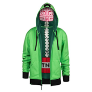 Minecraft Creeper Anatomy Premium Zip-Up Hoodie