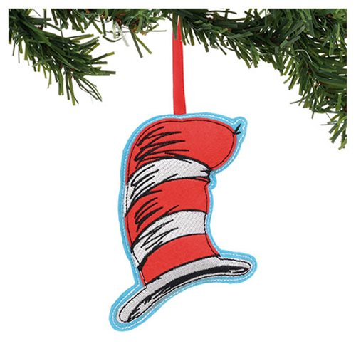 Dr. Seuss Cat in the Hat Felt Hat Ornament