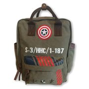 Marvel Captain America Vintage Military Army Backpack