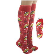 Big Bang Theory Bazinga! Knee High Red Socks