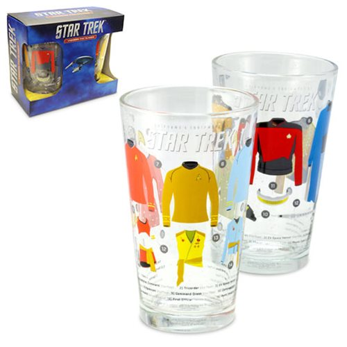 Star Trek Uniforms Pint Glass Set 2-Pack