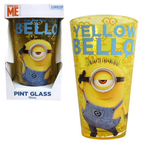 Despicable Me Yellow Bello 16 oz. Pint Glass