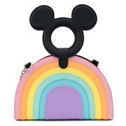 Disney Mickey Mouse Pastel Rainbow Crossbody Purse