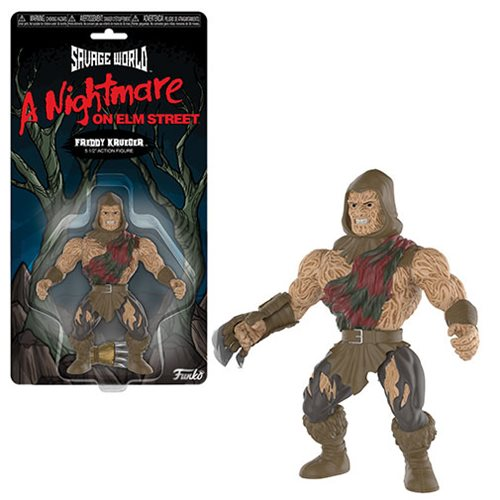 Nightmare on Elm Street Freddy Krueger Savage World Action Figure