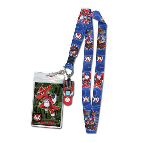 Digimon Mikey and Shoutmon Lanyard Key Chain
