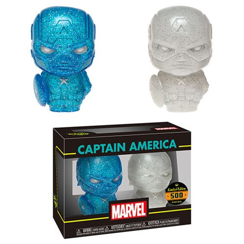 Captain America Blue and White Hikari XS Vinyl Figure 2-Pack