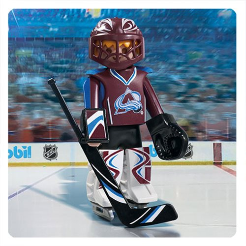 Playmobil 9189 NHL Colorado Avalanche Goalie Action Figure