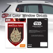 Star Wars Millennium Falcon Badge Window Decal