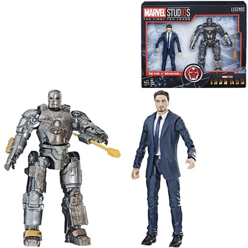 Marvel Legends MCU 10th Anniversary Tony Stark and Iron Man Mark I 6-Inch Action Figures