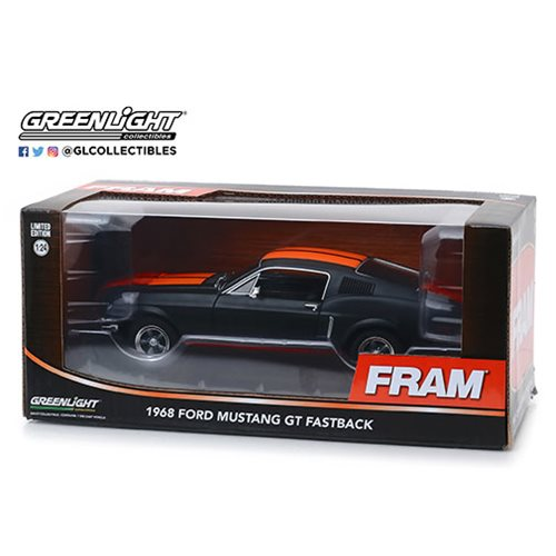 1968 Ford Mustang GT Fastback 1:24 Scale Die Cast Metal Vehicle