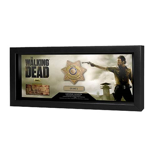 The Walking Dead TV Series Sheriff Rick Grimes Badge Prop Replica