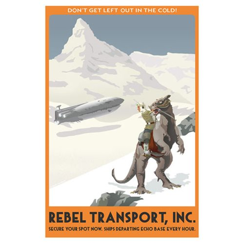 Star Wars Hoth Rebel Transport by Steve Thomas Canvas Giclee Art Print