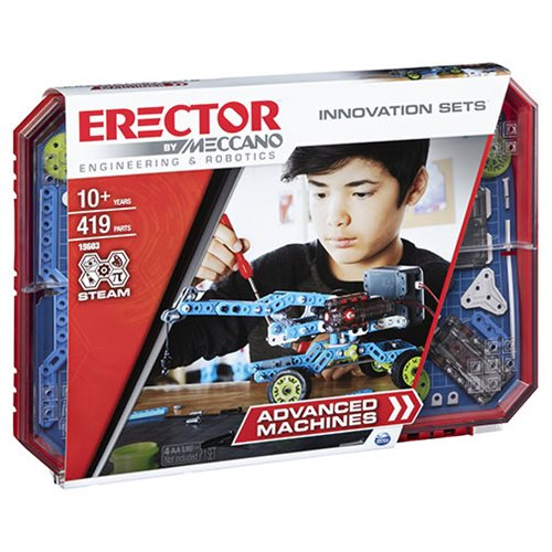 Erector by Meccano Set 7 Advanced Machines Innovation Building Kit