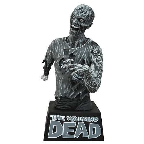 The Walking Dead Zombie Black and White Bust Bank