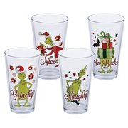 Dr. Seuss Grinchmas 16 oz. Glass Set of 4
