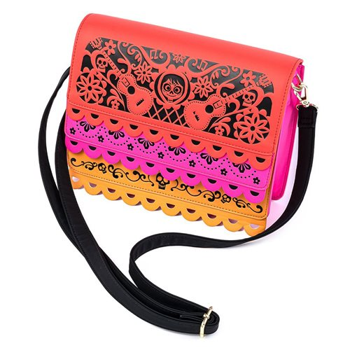 Coco Diecut Party Flags Crossbody Purse