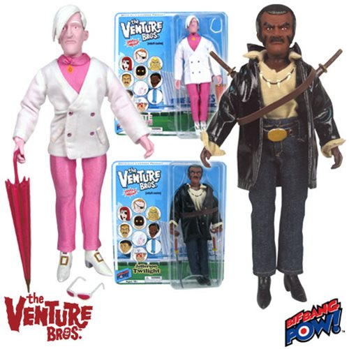 The Venture Bros. Pete White and Jefferson Twilight 8-Inch Action Figures