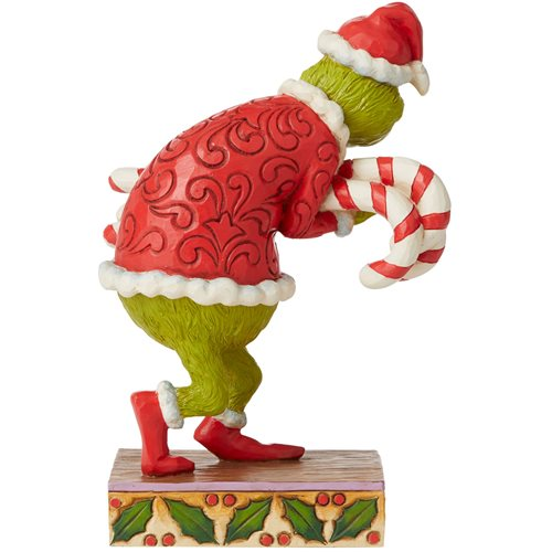 Dr. Seuss The Grinch Grinch Stealing Candy Canes by Jim Shore Statue