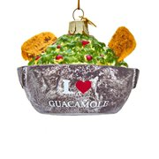 Guacamole Bowl 3 1/2-Inch Glass Ornament