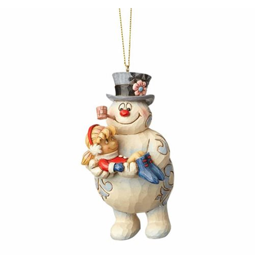 Frosty the Snowman by Jim Shore Frosty Holding Karen Ornament