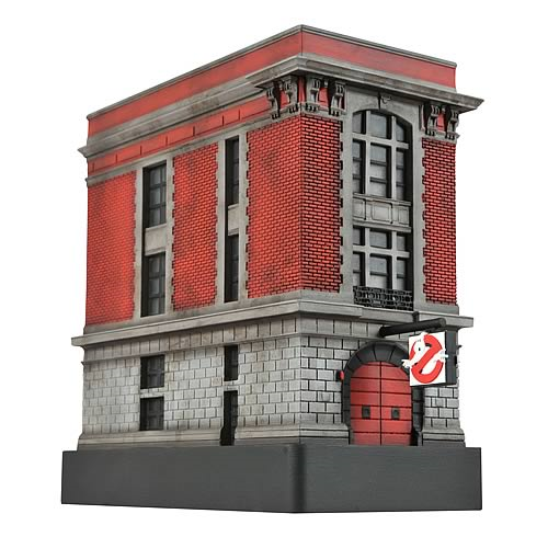 Ghostbusters Light-Up Firehouse Statue