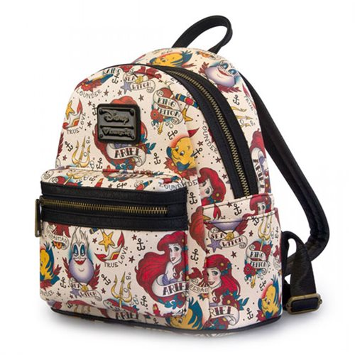 3cb15550d2c The Little Mermaid Ariel Tattoo Print faux-leather Mini-Backpack ...