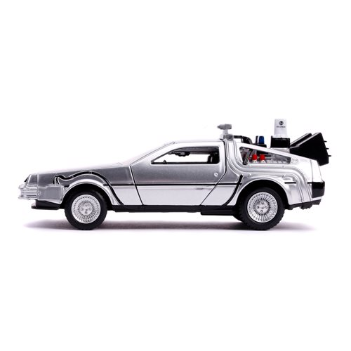 Back to the Future 2 Time Machine 1:32 Scale Die-Cast Metal Vehicle