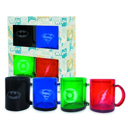 DC Comics Translucent Mugs 4-Pack Set