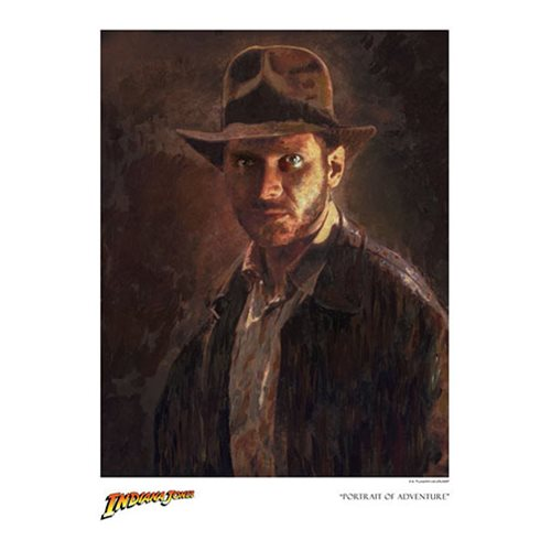 Indiana Jones Portrait of Adventure by Masey Paper Giclee Art Print