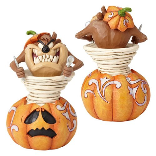 Looney Tunes by Jim Shore Halloween Taz Taz-o-Lantern Statue