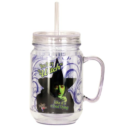 Wizard of Oz You Say Witch Mason Jar with Lid