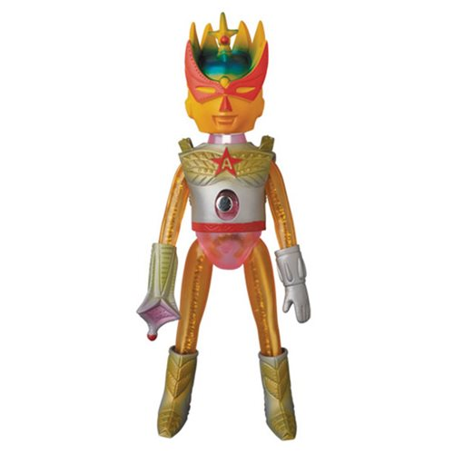 Ultra Action Boy Astro-Mu 5 Goldbeena Sofubi Vinyl Figure