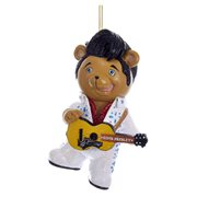 Elvis Presley White Jumpsuit Teddy Bear 3 1/4-Inch Ornament