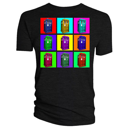 Doctor Who Psychedelic TARDIS Squares T-Shirt