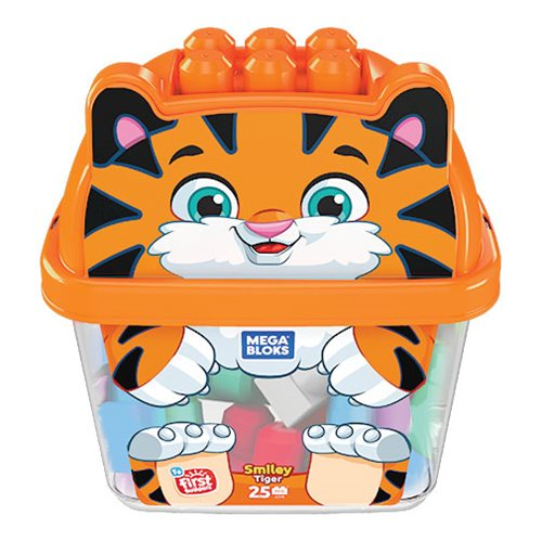 Mega Bloks First Builders Smiley Tiger Bucket