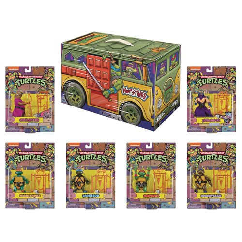 Teenage Mutant Ninja Turtles Retro Rotocast 6-Piece Action Figure Box Set - San Diego Comic-Con 2020