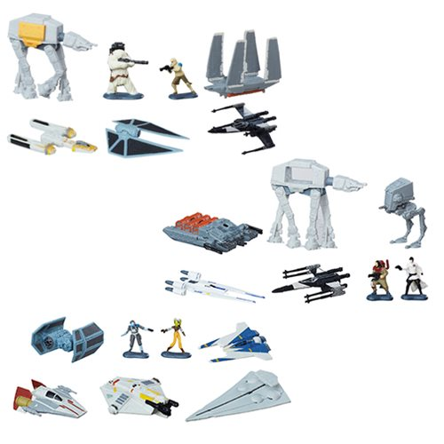 Star Wars Rogue One MicroMachines Deluxe Vehicles and Figures Wave 4 Set