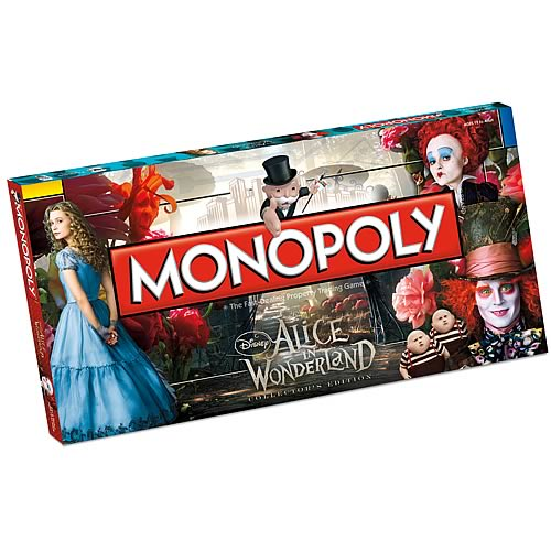 Alice In Wonderland Collectors Edition Monopoly Entertainment Earth