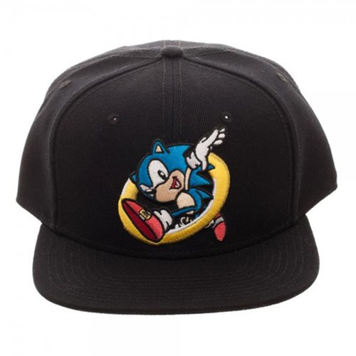 Sonic Embroidered Snapback Hat