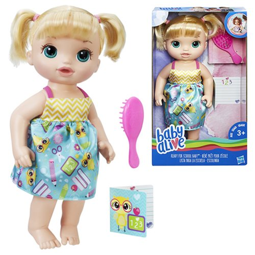 Baby Alive Ready For School Baby Doll Blonde