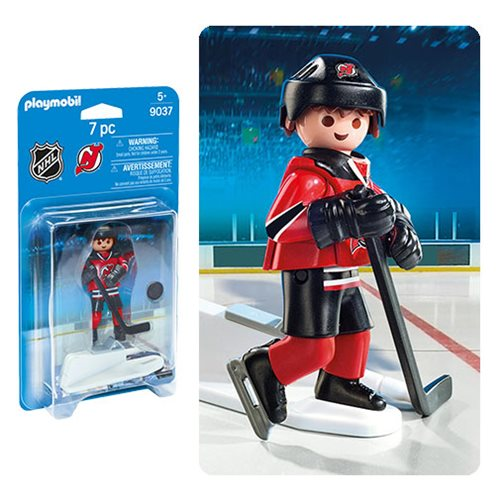 differently f39fd ae10c Playmobil 9037 NHL New Jersey Devils Player Action Figure