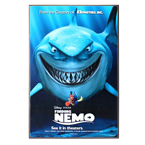 Finding Nemo Bruce Movie Poster Wood Wall Art