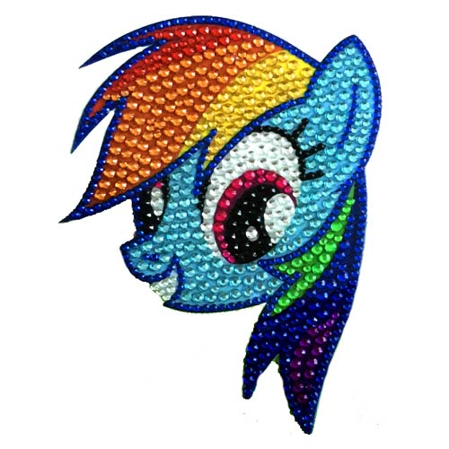 My Little Pony Rainbow Dash Face Crystal Studded Decal
