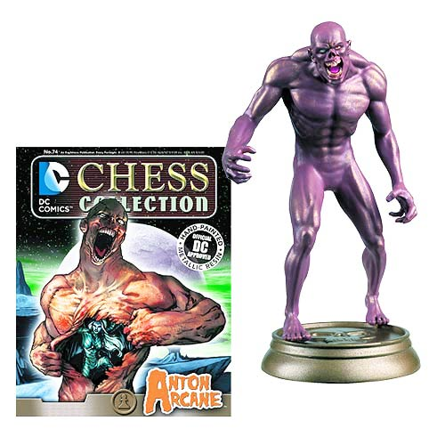 DC Superhero Arcane Black Pawn Chess Piece with Collector Magazine