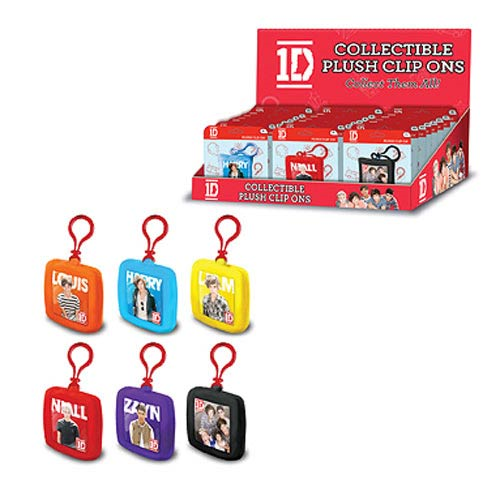 1D Mini Clip-On Plush Key Chain Display Box