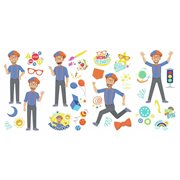 Blippi Peel and Stick Wall Decals